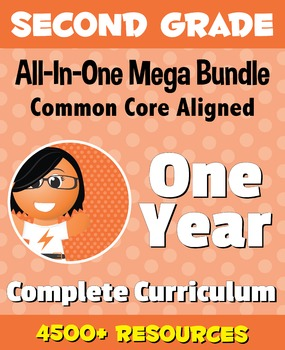 SECOND GRADE All-In-One *MEGA BUNDLE* {1 Year Complete Cur