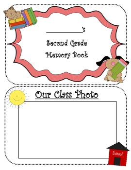 SECOND GRADE MEMORIES YEARBOOK AUTOGRAPH BOOK ~12 PAGE BOO