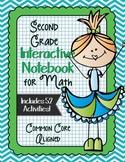 SECOND GRADE Math Interactive Notebook Bundle- Activities