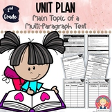 SECOND GRADE UNIT {Main Topic of a Multi-Paragraph Text ~