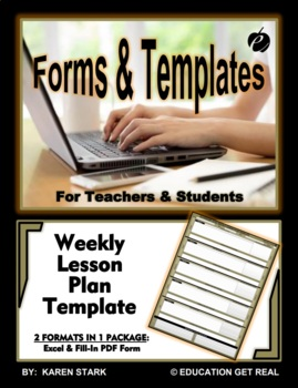 """SECONDARY-LEVEL WEEKLY LESSON PLAN TEMPLATE (Excel) """"Organ"""