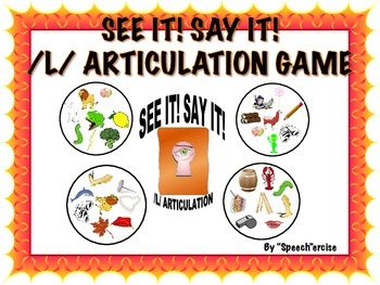 SPEECH THERAPY SEE IT! SAY IT! /L/ Articulation Game
