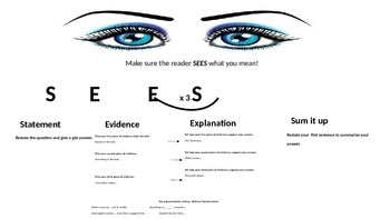 SEES:   A tool for writing CCSS informational and argument