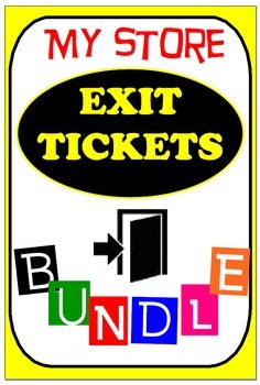SELECTED - EXIT TICKETS BUNDLE 1