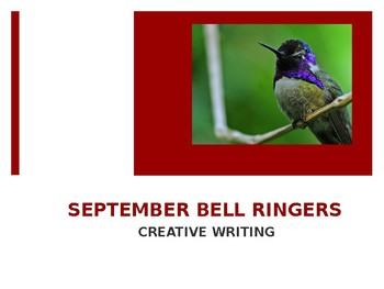 SEPTEMBER BELL RINGERS with Images / Creative Writing Prompts