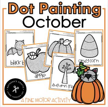 AUTUMN ART / FALL ART / SEPTEMBER QTIP PAINTING