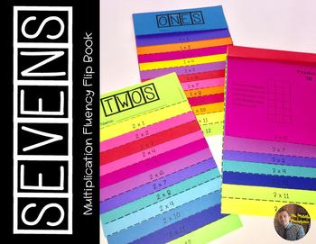SEVENS Multiplication Fact Fluency Flip Book: Grades 3-5