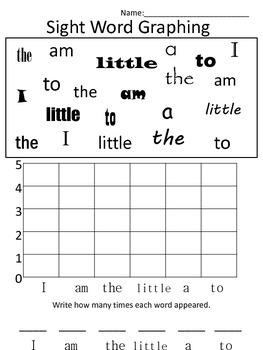 SF Reading Street Unit 1 Sight Word Graph