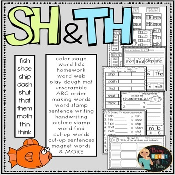 SH and TH Hands-on Spelling and Phonics