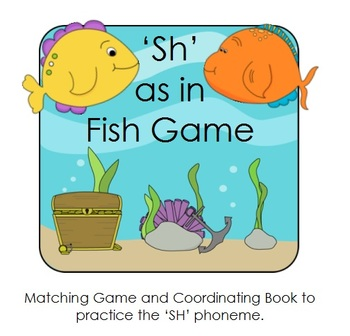 """Phonics: """"SH"""" sound - Digraph Game and Word Book"""
