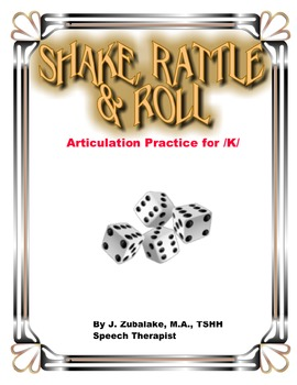 SPEECH THERAPY SHAKE,RATTLE & ROLL Articulation Game for /
