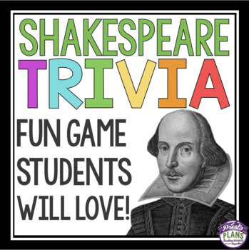 SHAKESPEARE GAME: TRIVIA