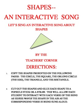 Shapes and Colors...A Bundle Pack of Interactive Songs