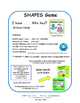 SHAPES Game | I have . . . Who has? | Geometric | 28 MATH