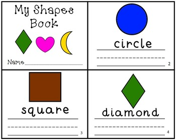 SHAPES Mini Books Emergent Readers Writing Practice Set of 2