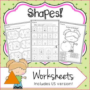 SHAPES UNIT Activities - No Prep Worksheets