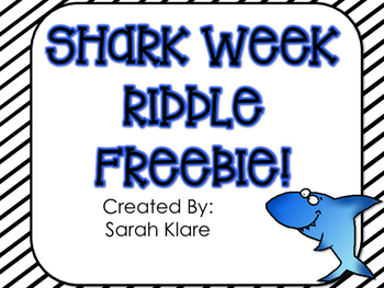 SHARK WEEK! {A Math Review FREEBIE}