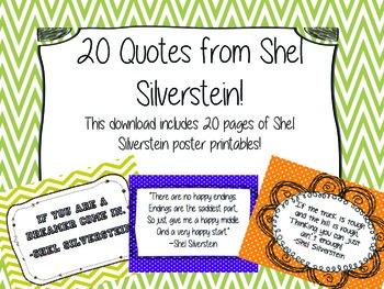 SHEL SILVERSTEIN Quotes - Printable Posters