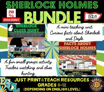 SHERLOCK HOLMES (ESL): MINI BUNDLE (game + unit of work wi