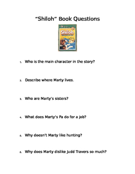SHILOH Book Questions and Answer Key