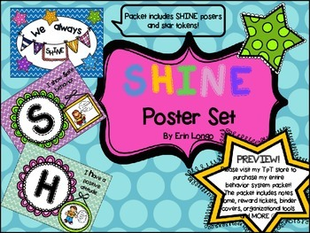 SHINE behavior management posters