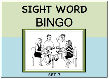 SIGHT WORD BINGO Set 7