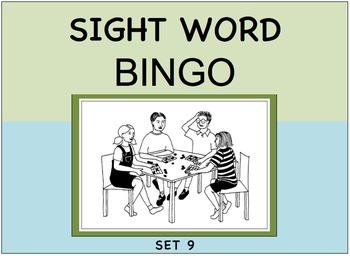 SIGHT WORD BINGO Set 9