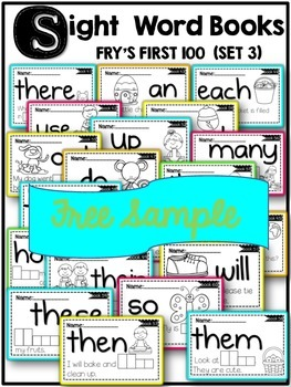 SIGHT WORD BOOKS-FREE SAMPLE