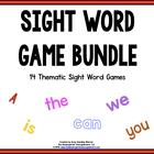 EDITABLE! SIGHT WORD GAMES BUNDLE!  EXCLUSIVE!