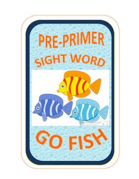 SIGHT WORD GO FISH - Pre-Primer