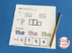 SIGHT WORD Mega Pack - 72 Word Work Printable Worksheets -