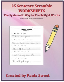 SIGHT WORD SENTENCE SCRAMBLE~The Systematic Way to Teach S