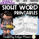 SIGHT WORDS Daily Practice {For the entire year}