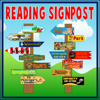 SIGNPOSTS FOR READING AREA - LITERACY ENGLISH IMAGINATION