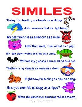 Similes Make you Smile! Figurative Language