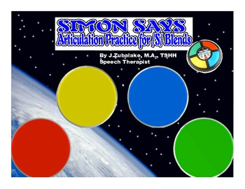 SIMON SAYS Articulation Game for /S/ Blend Practice- Speec