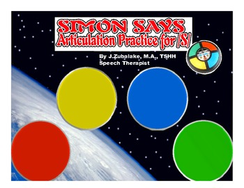 SIMON SAYS Articulation Game for /S/ Practice- Speech Therapy
