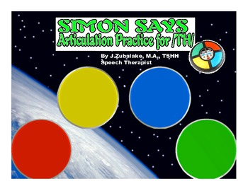 SIMON SAYS Articulation Game for /TH/ Practice- Speech Therapy