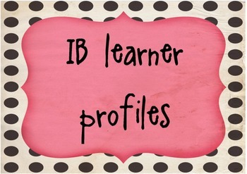 SIMPLE IB LEARNER PROFILE POSTERS
