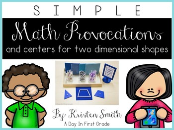 SIMPLE Kindergarten Math Provocations and Centers For Two