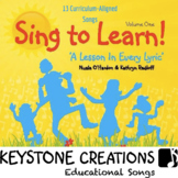 SING TO LEARN! ~ 13 Curriculum Songs & Lyrics