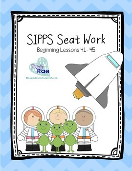 SIPPS Sight Word Seat Word *BUNDLE*; Beginning Lessons 41- 55