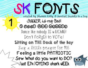SK Fonts {Shark Week}