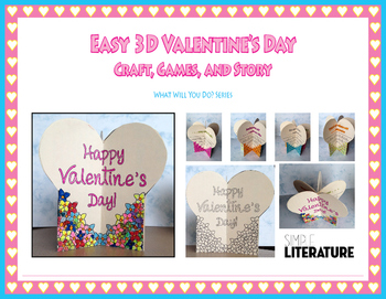 """SL - Easy 3D Valentine's Day Craft, Games, and Story - """"Wh"""