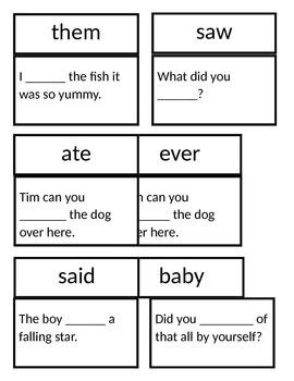 SLAM Sight Word Sentences