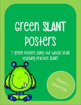 SLANT Green Posters