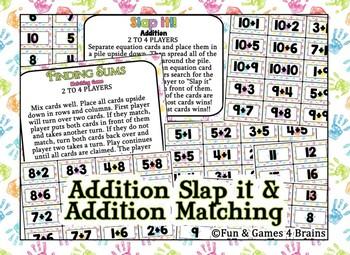 SLAP IT!! Single Digit Addition math game