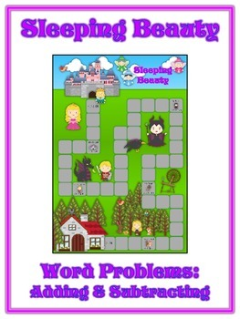 SLEEPING BEAUTY - Word Problems Adding & Subtracting - Mat