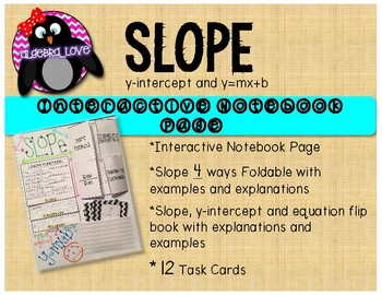 SLOPE INB Page, Foldable, Flip Book and Task Cards