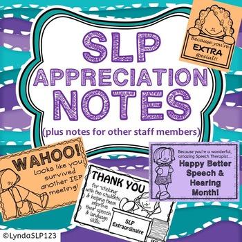 SLP Appreciation Notes